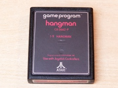 Hangman by Atari - Red Text Label