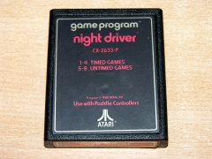 Night Driver by Atari - Text Label
