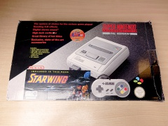 Super Nintendo Starwing Set