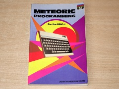 Meteoric Programming For The Oric 1