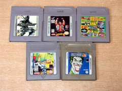 ** Collection of Five Gameboy cartridges