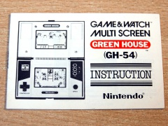 Green House Game & Watch Manual