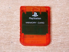 Playstation Memory Card - Red
