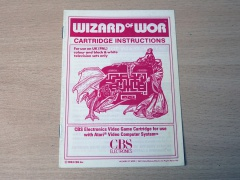 Wizard Of Wor Manual